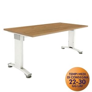 Scrivania Variant Meco Office linea Wood L 160 x P 80 cm noce / bianco