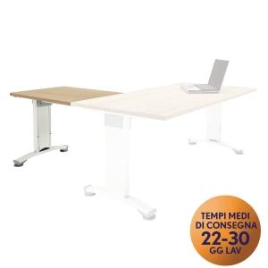 Allungo per scrivania Variant Meco Office linea Wood L80 x P60 cm noce / bianco