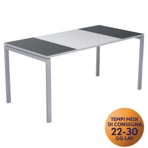 Scrivania Easydesk Paperflow L 160 x P 80 x H 75 cm grigio / bianco