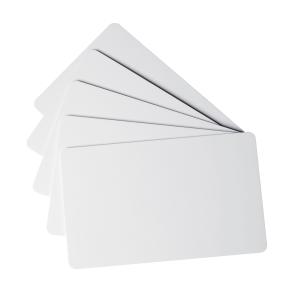 CONF. DA 100 TESSERE IN PVC BIANCHE DA 0,50 MM - 54 x 85 MM