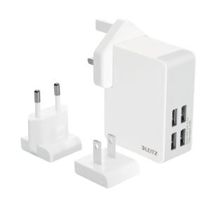 Caricatore universale da muro Leitz Complete 4 porte USB