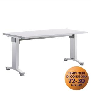 Scrivania Variant Meco Office linea Wood L 160 x P 80 cm bianco