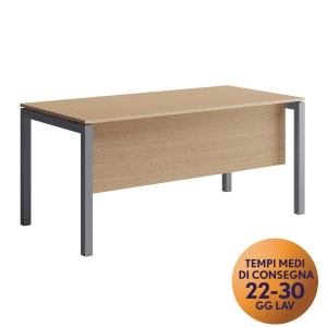 GONNA PER SCRIVANIA MECO OFFICE ARREDO L 180 CM NOCE