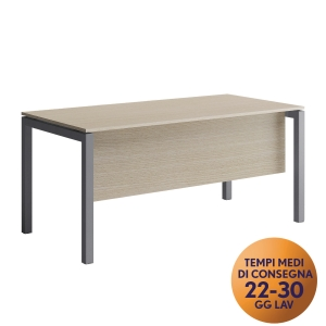 GONNA PER SCRIVANIA MECO OFFICE ARREDO L 180 CM ROVERE