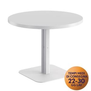 Tavolo riunione rotondo Meco Office linea Arredo Ø 100 x H 74 bianco