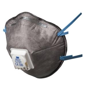 Respiratore a conchiglia 3M 9922 con carboni attivi FFP2 con valvola - conf. 10