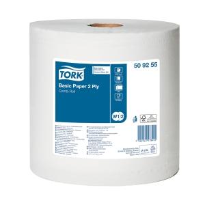 Carta per asciugatura ad uso industriale Tork bianco - conf. 2 bobine