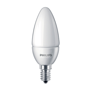 LAMPADINA LED OLIVA SMERIGLIATA E14 5,5W LUCE CALDA PHILIPS