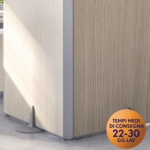 Raccordo 90° per parete modulare per open-space Meco Office Arredo