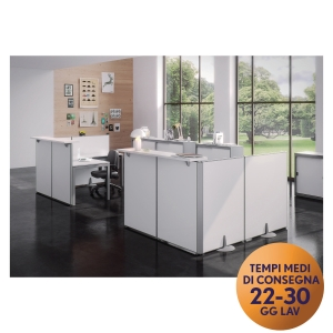 PANNELLO MODULARE FRONT-OFFICE MECO OFFICE ARREDO L 60 BIANCO
