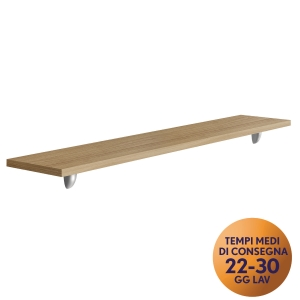 MENSOLA PER FRONT-OFFICE MECO OFFICE ARREDO L 160 NOCE