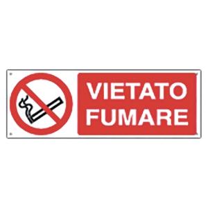 CARTELLO SEGNALETICO DI DIVIETO ORIZZONTALE   VIETATO FUMARE