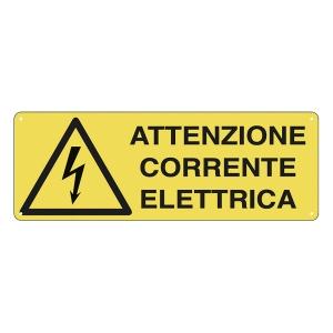CARTELLO SEGNALETICO DI PERICOLO   ATTENZIONE CORRENTE ELETTRICA