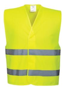 Gilet monocolore alta visibilità senza tasche Portwest giallo tg L/XL