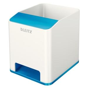 Portapenne con amplificatore del suono colore BIANCO/BLU Leitz WOW DUAL