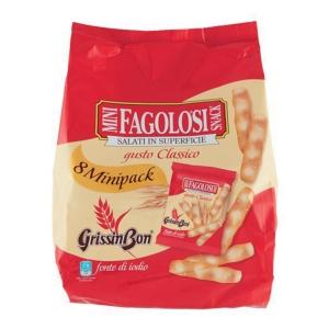 Grissini salati Mini Fagolosi Grissin Bon in pacchetto da 20 g - conf. 11