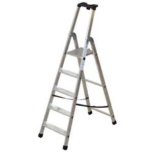 Scala professionale Facal Quadra in alluminio 5 gradini