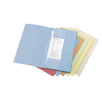Lyreco 3-kleppenmappen A4 karton 280g blauw - pak van 50