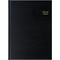Brepols Bremax 1 bureau-agenda met Santex omslag zwart