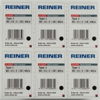 Reiner B2 navulling Color Box nummerstempel type 1 zwart