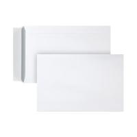 Zakomslagen 185x280mm siliconenstrook 120g extra wit - doos van 500