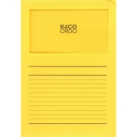 Elco 420505 Ordo L-mapjes met venster geel - doos van 100