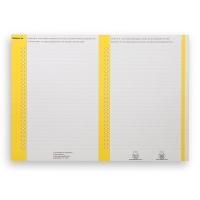 Elba ruiterstroken voor hangmappen nr.8 voor kasten geel - pak van 10