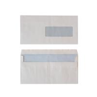 Standaard enveloppen 114x229mm zelfklevend venster rechts 80g - doos van 500