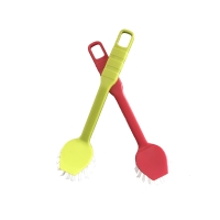 Afwasborstel in kunststofvezel geel