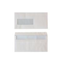Standaard enveloppen 114x229mm zelfklevend venster links 80g - doos van 500