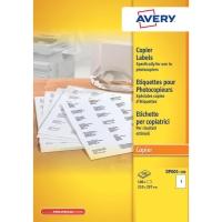 Avery DP001 kopieeretiketten 210x297mm - doos van 100