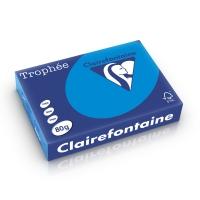 Clairefontaine Trophée 1781 gekleurd papier A4 80g caraibenblauw - pak van 500