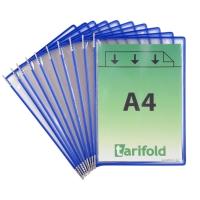Tarifold 114001 panelen voor displaysysteem in metaal/PVC blauw - pak van 10