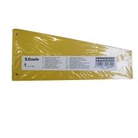 Esselte scheidingsstrook trapezium karton 220gr geel - pak van 100
