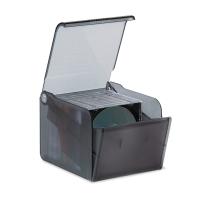 Opbergdoos voor 15 CD/DVD transparant zwart