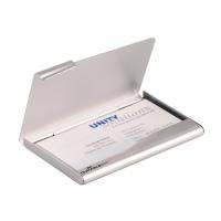 Durable visitekaarthouder metaal doosje voor visitekaartjes