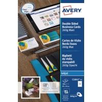 Avery C32015 visitekaartjes inkjet 85x54mm 260g - mat - doos van 200