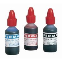 Inkt voor permanent stempel fles 20 ml zwart