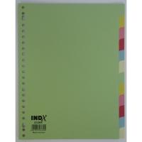 IndX neutrale tabbladen 12 tabs karton 23-gaats