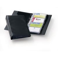 Durable Visifix visitekaartmap voor 96 kaartjes zwart