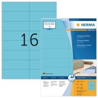Herma 4258 gekleurde etiketten 105x37mm blauw - doos van 1600