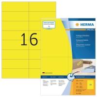Herma 4256 gekleurde etiketten 105x37mm geel - doos van 1600