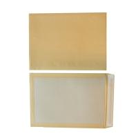 Zakomslagen kartonnen rug 320x420mm siliconenstrook 120g bruin - doos van 100