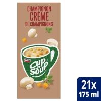 Cup-a-soup zakjes soep champignons crème - doos van 21