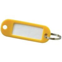 Sleutelhangers kunststof geel - pak van 20