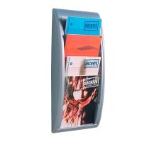 Paperflow 4061.35 muurdisplay brochurehouder A4 aluminium