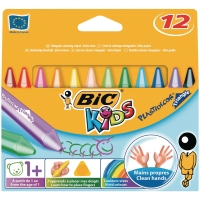 Bic Kids Plastidecor Triangle waskrijt assorti - doos van 12