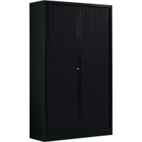 Ariv roldeurkast met 4 leggers 120x198x43cm zwart