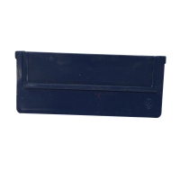 Tussenschot voor magazijnlade type b488 H 7,6cm x B 17,6cm blauw