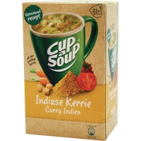 Cup-a-soup zakjes soep curry - doos van 21